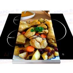 Tabla + Vinilo + Ruedas para Robots de Cocina Pollo