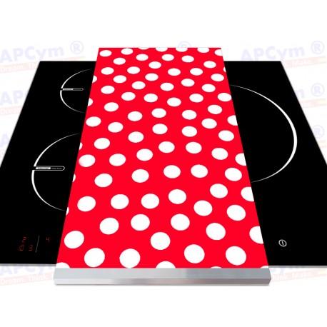 Tabla + Vinilo + Ruedas para Robots de Cocina Flamenca Roja