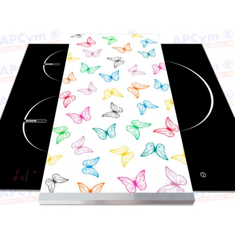 Tabla + Vinilo + Ruedas para Thermomix Mariposas de Colores