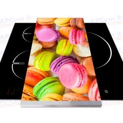 Tabla + Vinilo + Ruedas para Robots de Cocina Bocadillos de Colores