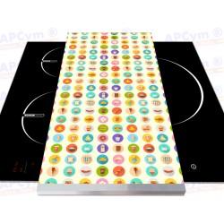 Tabla + Vinilo + Ruedas para Robots de Cocina Comidas