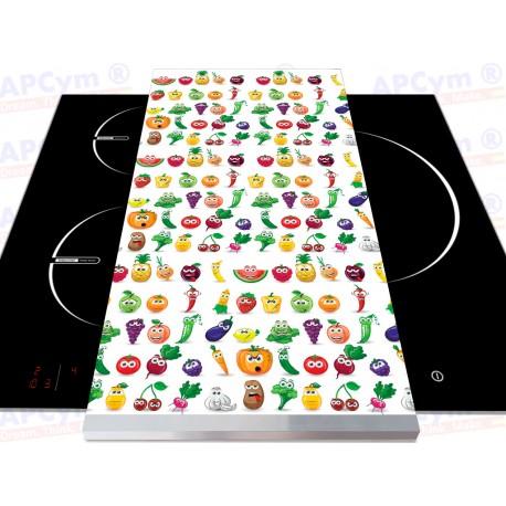 Tabla + Vinilo + Ruedas para Robots de Cocina Caritas Divertidas