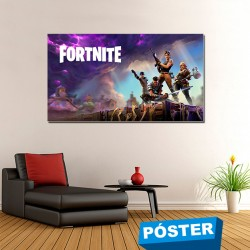 Poster Fortnite con Acabado en Brillo