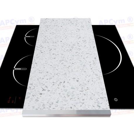 Tabla + Vinilo + Ruedas para Robots de Cocina Piedras Blancas