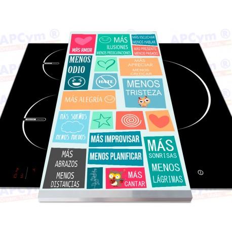 Tabla + Vinilo + Ruedas para Robots de Cocina Mas y Menos