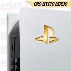 Vinilo para Interior Consola Logo Sticker Underlay Oro Efecto Espejo