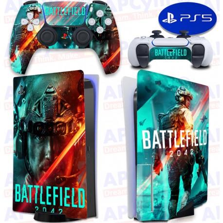 Vinilo para Consola y Mando PS5 Battlefield 2042