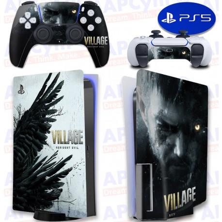 Vinilo para Consola y Mando PS5 Resident Evil Village