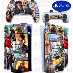 Vinilo para Consola y Mando PS5 GTA V