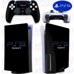 Vinilo para Consola y Mando PS5 Retro PS2 Negra