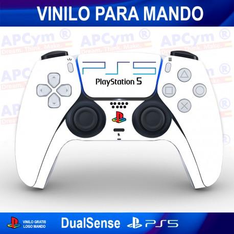 Vinilo para Mando PS5 Retro PS2 Blanco
