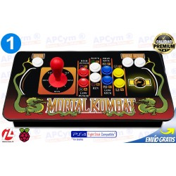 Mando Recreativa Arcade 1 Player para Raspberry Pi 3 y Pi 4 / PC / PS4 / PS3