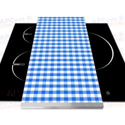 Tabla + Vinilo + Ruedas para Robots de Cocina Mantel Azul