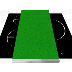 Tabla + Vinilo + Ruedas para Robots de Cocina Piedras Verde Pistacho