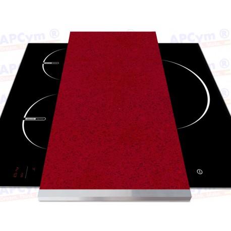 Tabla + Vinilo + Ruedas para Robots de Cocina Piedras Rojas Oscuras