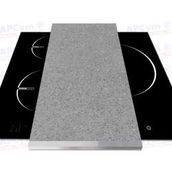 Tabla + Vinilo + Ruedas para Robots de Cocina Piedras Gris Claro