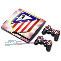 Vinilo Playstation 3 Slim Modelo Atletico de Madrid