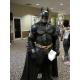 Colgante de Batman acero inoxidable plateado cuero