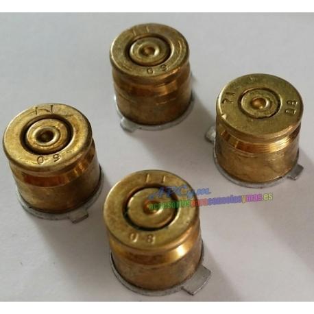 Botones Casquillo de Bala Color Oro