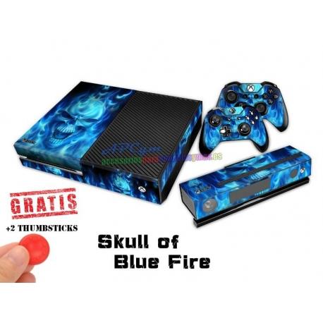Vinilo Xbox One Modelo Calavera Azul
