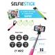 Monopod para fotos Selfie Color Rosa