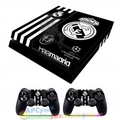 Vinilo Playstation 4 Modelo Hala Madrid Negro