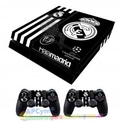 Vinilo Playstation 4 Modelo Hala Madrid Negro