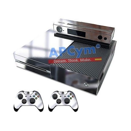 Vinilo Xbox One Modelo Plata Efecto Espejo