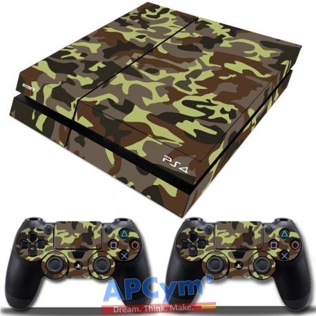 Vinilo Playstation 4 Camuflaje Militar