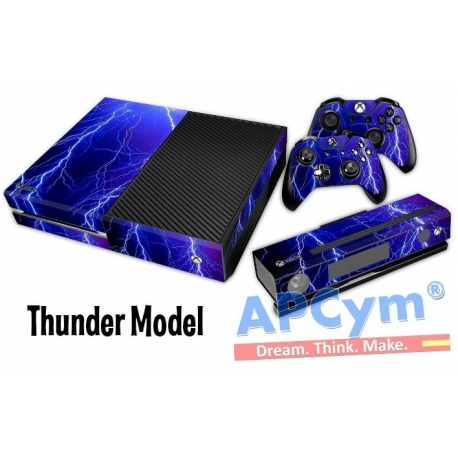 Vinilo Xbox One Modelo Tormenta Blue Ray