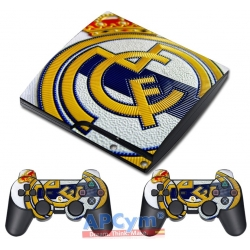 Vinilo Playstation 3 Slim Modelo Hala Madrid y Nada Mas